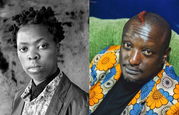 <p>Zanele Muholi and Binyavanga Wainaina</p>