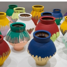 <p>Ai Weiwei (Chinese, b. 1957). <i>Colored Vases</i>, 2007‒10. Han Dynasty vases and industrial paint, dimensions variable. Courtesy of Ai Weiwei Studio. Photo by Cathy Carver</p>
