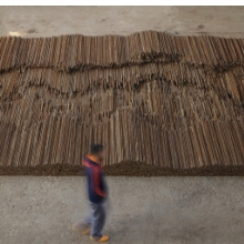 <p>Ai Weiwei (Chinese, b. 1957). <i>Straight</i>, 2008–12. Steel reinforcing bars, dimensions variable. © Ai Weiwei</p>