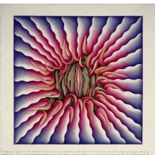 <p>Judy Chicago (American, b. 1939). <i>Female Rejection Drawing #3</i>, from the <i>Rejection Quintet</i>, 1974. Prismacolor pencil on rag paper, 30 x 40 in. (76.2 x 101.6 cm). San Francisco Museum of Modern Art, Gift of Tracy O'Kates. © Judy Chicago. Photo © Donald Woodman</p>