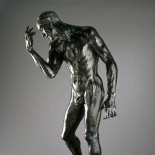 <p>Auguste Rodin (French, 1840–1917). <i>Pierre de Wiessant, Monumental Nude (Pierre de Wissant, nu monumental)</i>, 1886, cast 1983. Bronze, 78<sup>1</sup>⁄<sub>4</sub> x 44<sup>3</sup>⁄<sub>4</sub> x 36<sup>1</sup>⁄<sub>2</sub> in. (198.8 × 113.7 × 92.7 cm). Brooklyn Museum, Gift of the B. Gerald Cantor Collection, 86.310</p>