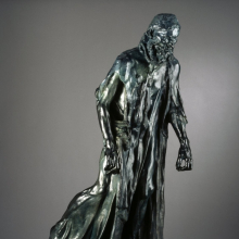 <p>Auguste Rodin (French, 1840–1917). <i>Eustache de Saint-Pierre, Monumental (Eustache de Saint-Pierre, monumental)</i>, circa 1886–87. Bronze, 85 × 30 × 48 in. (215.9 × 76.2 × 121.9 cm). Brooklyn Museum, Gift of Iris and B. Gerald Cantor, 87.106.2</p>