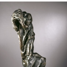 <p>Auguste Rodin (French, 1840&ndash;1917). <i>Andrieu d&rsquo;Andres, Monumental (Andrieu d&rsquo;Andres, monumental)</i>, 1888, cast 1983. Bronze, 78<sup>3</sup>&frasl;<sub>8</sub> x 50 &times; 33<sup>1</sup>&frasl;<sub>2</sub> in. (199.1 &times; 127 &times; 85.1 cm). Brooklyn Museum, Gift of Iris and B. Gerald Cantor, 87.106.3</p>