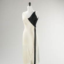 <p>Jessie Franklin Turner (American, 1881–circa 1956). <i>Evening Ensemble</i>, circa 1930. Black-and-white silk slipper satin. Brooklyn Museum Costume Collection at The Metropolitan Museum of Art, Gift of the Brooklyn Museum, 2009; Gift of the estate of Mary Boocock Leavitt, 1974 (2009.300.511a–c)</p>