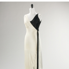<p>Jessie Franklin Turner (American, 1881&ndash;circa 1956). <i>Evening Ensemble</i>, circa 1930. Black-and-white silk slipper satin. Brooklyn Museum Costume Collection at The Metropolitan Museum of Art, Gift of the Brooklyn Museum, 2009; Gift of the estate of Mary Boocock Leavitt, 1974 (2009.300.511a&ndash;c)</p>