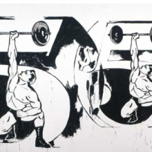 <p>Andy Warhol (American, 1928&ndash;1987). <em>Double $5/Weightlifter</em>, 1985&ndash;86. Acrylic on linen, 116 &times; 216<sup>1</sup>&frasl;<sub>2</sub> in. (294.6 &times; 549.9 cm). The Andy Warhol Museum, Pittsburgh; Founding Collection, Contribution The Andy Warhol Foundation for the Visual Arts, Inc. &copy; 2010 The Andy Warhol Foundation for the Visual Arts/Artists Rights Society (ARS), New York</p>