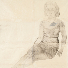 <p>Kiki Smith (American, b. Germany 1954). <i>Silver Bird</i>, 2006. Ink on Nepal paper with silver gouache, mica, glitter, and graphite, 72<sup>1</sup>⁄<sub>4</sub> x 58<sup>1</sup>⁄<sub>4</sub> in. (183.5 cm x 148 cm). © Kiki Smith. Courtesy of PaceWildenstein, New York. Photo by Kerry Ryan McFate/Courtesy of PaceWildenstein</p>