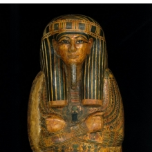 Coffin and Mummy Board of Pa-seba-khai-en-ipet. Egypt, from Thebes. Third Intermediate Period, circa 1070–945 B.C.E. Wood, painted, 763⁄8 x 215⁄8 x 125⁄8 in. (194 × 55 × 32 cm). Brooklyn Museum, Charles Edwin Wilbour Fund, 08.480.2a–c