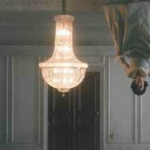 <p>Matthew Buckingham (American, b. 1963). Still from <i>The Spirit and the Letter</i>, 2007. Continuous video projection with sound, electrified chandelier, mirror. Dimensions variable. Courtesy of the artist and Murray Guy, New York</p>