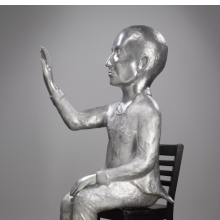 <p>Kiki Smith (American, b. Germany, 1954). <em>Annunciation</em>, 2008. Cast aluminum, Overall: 61<sup>1</sup>&frasl;<sub>2</sub> x 32 &times; 19 in. (156.2 &times; 81.3 &times; 48.3 cm); Chair: 19<sup>3</sup>&frasl;<sub>4</sub> x 19<sup>3</sup>&frasl;<sub>4</sub> x 13<sup>3</sup>&frasl;<sub>4</sub> in. (50.2 &times; 50.2 &times; 34 cm). Brooklyn Museum, Purchased with funds given by John and Barbara Vogelstein, Alan and Leslie Beller, Constance and Henry Christensen III, Nikola Duravcevic and Dana Ben-Ari, Stephanie and Tim Ingrassia, Leslie and David Puth, Elizabeth A. Sackler, John S. Tamagni, Barbara and Bill Wynne, and Designated Purchase Fund, 2011.78a&ndash;b</p>