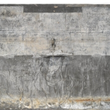 <p>Anselm Kiefer (German, b. 1945). <em>Naglfar</em>, 1988. Soldered lead boat, metal, wood, nails on treated lead laid on panel, 77 &times; 118<sup>1</sup>&frasl;<sub>2</sub> x 8<sup>3</sup>&frasl;<sub>4</sub> in. (195.6 &times; 301 &times; 22.2 cm). Brooklyn Museum, Private collection, L2013.2. &copy; Anselm Kiefer</p>