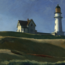 <p>Edward Hopper (American, 1882–1967). <em>Lighthouse Hill</em>, 1927. Oil on canvas, 29<sup>1</sup>⁄<sub>16</sub> x 40<sup>1</sup>⁄<sub>4</sub> in. (73.8 × 102.2 cm). Dallas Museum of Art, Gift of Mr. and Mrs. Maurice Purnell, 1958.9. © Heirs of Josephine N. Hopper, licensed by the Whitney Museum of American Art</p>