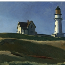<p>Edward Hopper (American, 1882&ndash;1967). <em>Lighthouse Hill</em>, 1927. Oil on canvas, 29<sup>1</sup>&frasl;<sub>16</sub> x 40<sup>1</sup>&frasl;<sub>4</sub> in. (73.8 &times; 102.2 cm). Dallas Museum of Art, Gift of Mr. and Mrs. Maurice Purnell, 1958.9. &copy; Heirs of Josephine N. Hopper, licensed by the Whitney Museum of American Art</p>