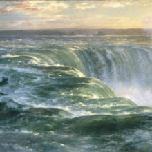 <p><i>Niagara</i>, 1866. Louis Rémy Mignot (American, 1831–1870).Oil on canvas, 48<sup>3</sup>⁄<sub>4</sub> x 91<sup>1</sup>⁄<sub>2</sub> in. (123.8 × 232.4 cm). Brooklyn Museum; Gift of Arthur S. Fairchild, 1993.118</p>
