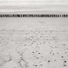 <p>Eleanor Antin (American, b. 1935). 100 Boots Facing the Sea, Del Mar, California. February 9, 1971, 2:00 p.m.(mailed: March 15, 1971, 1971–73. Photograph, 8 × 10 in (20.3 × 25.4 cm). © Eleanor Antin. (Photo: Ronald Feldman Fine Arts, New York/www.feldmangallery.com)</p>