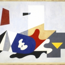<p>Ilya Bolotowsky (American, born Russia, 1907–1981). <i>Untitled, From the Williamsburg Housing Project Murals</i>, 1936. Oil on canvas, 85 × 211 in. (215.9 × 535.9 cm). Brooklyn Museum, On loan from the New York City Housing Authority, L1990.1.1</p>