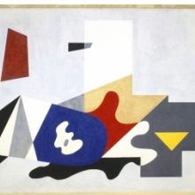 <p>Ilya Bolotowsky (American, born Russia, 1907&ndash;1981). <i>Untitled, From the Williamsburg Housing Project Murals</i>, 1936. Oil on canvas, 85 &times; 211 in. (215.9 &times; 535.9 cm). Brooklyn Museum, On loan from the New York City Housing Authority, L1990.1.1</p>