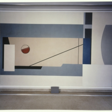 <p>Balcomb Greene (American, 1904–1990). <i>Untitled, From the Williamsburg Housing Project Murals</i>, circa 1936. Oil on canvas, 91<sup>1</sup>⁄<sub>2</sub> x 129<sup>1</sup>⁄<sub>4</sub> in. (232.4 × 328.3 cm). Brooklyn Museum, On loan from the New York City Housing Authority, L1990.1.4</p>