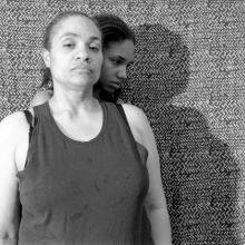 <p>LaToya Ruby Frazier (American, b. 1982). <i>Shadow</i> (from the <i>Momme Portrait</i> series), 2008. Gelatin silver photograph, 15<sup>1</sup>⁄<sub>2</sub> x 19<sup>1</sup>⁄<sub>2</sub> in. (39.4 × 49.5 cm). Brooklyn Museum, Emily Winthrop Miles Fund, 2011.63.2. © LaToya Ruby Frazier</p>