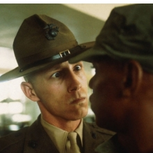 <p>Thomas Hoepker (German, b.1936). <em>A US Marine drill sergeant delivers a severe reprimand to a recruit, Parris Island, South Carolina</em>, from the series <em>US Marine Corps Boot Camp</em>, 1970. Inkjet print (printed 2012), 14<sup>13</sup>&frasl;<sub>16</sub> x 22 in. (37.6 &times; 55.9 cm). &copy; Thomas Hoepker / Magnum Photos</p>