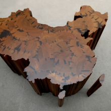<p>Ai Weiwei (Chinese, b. 1957). <i>Map of China</i>, 2008. Tieli wood (iron wood) from dismantled temples of the Qing Dynasty (1644‒1911), 63<sup>3</sup>⁄<sub>8</sub> x 84<sup>5</sup>⁄<sub>8</sub> x 66<sup>15</sup>⁄<sub>16</sub> in. (161 &#215; 215 &#215; 170 cm). Collection of the Faurschou Foundation. © Ai Weiwei</p>