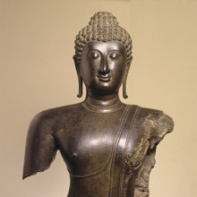 <p><em>Head and Torso of a Buddha</em>. Thailand. Sukhothai period (1250–1378), 14th century. Bronze, 38 × 22 × 11 in. (96.5 × 55.9 × 27.9 cm). Brooklyn Museum, Purchased with funds given by the Charles Bloom Foundation, Inc., in memory of Mildred and Charles Bloom, 88.94</p>