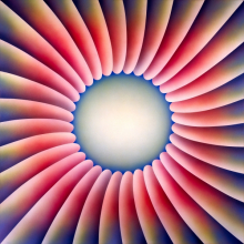 <p>Judy Chicago (American, b. 1939). <i>Through the Flower</i>, 1973. Sprayed acrylic on canvas, 60 &#215; 60 in. (152.4 &#215; 152.4 cm). Collection of Elizabeth A. Sackler. © Judy Chicago. Photo © Donald Woodman</p>