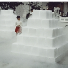 <p>Judy Chicago (American, b. 1939). <i>Dry Ice Environment</i> documentation, installed at Century City Mall, Los Angeles, 1967. Photo courtesy of Through the Flower Archives</p>