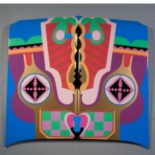 <p>Judy Chicago (American, b. 1939). <i>Birth Hood</i>, 1965/2011. Sprayed automotive lacquer on car hood, 42<sup>7</sup>⁄<sub>8</sub> x 42<sup>7</sup>⁄<sub>8</sub> x 4<sup>5</sup>⁄<sub>16</sub> in. (109 &#215; 109 &#215; 10.9 cm). Courtesy of the artist. © Judy Chicago. Photo © Donald Woodman</p>