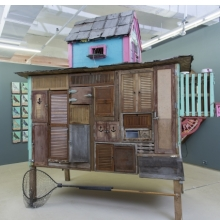 <p>Duke Riley (American, b. 1972). <em>Pigeon Loft</em>, 2012&ndash;13. Reclaimed wood; roofing and construction materials, 168 &times; 120 &times; 72 in. (426.7 &times; 304.8 &times; 182.9 cm). Collection of Laura Lee Brown and Steve Wilson, 21c Museum, Louisville, Kentucky. &copy; Duke Riley. Photo: Zach Callahan</p>