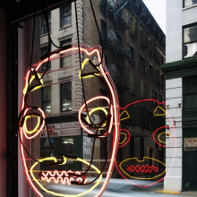 <p>Brendan Fernandes (Canadian, b. Kenya, 1979). <em>1979.206.200</em>, 2010. Neon on glass frame, 34 × 26 in. (86.4 × 66 cm.). Courtesy of the artist. © Brendan Fernandes. Photo: Erika Neola and Brendan Beecy</p>