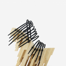 "<p>Winde Rienstra. ""Bamboo Heel,"" 2012. Bamboo, glue, plastic cable ties. Courtesy of Winde Rienstra. Photo: Jay Zukerkorn</p>"