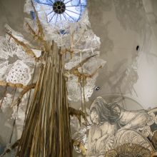 Swoon (American, b. 1978). Swoon: Submerged Motherlands, 2014. Brooklyn Museum photograph