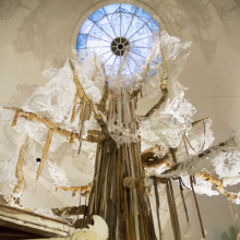 <p>Swoon (American, b. 1978). <i>Swoon: Submerged Motherlands</i>, 2014. Brooklyn Museum photograph</p>