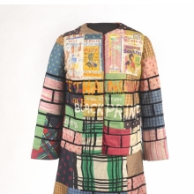 <p>Jae Jarrell (American, b. 1935). <em>Urban Wall Suit</em>, circa 1969. Dyed and printed silk with paint, 38 &times; 21 &times; 10 (96.5 &times; 53.3 &times; 25.4 cm). Brooklyn Museum, Gift of R. M. Atwater, Anna Wolfrom Dove, Alice Fiebiger, Joseph Fiebiger, Belle Campbell Harriss, and Emma L. Hyde, by exchange; Designated Purchase Fund, Mary Smith Dorward Fund, Dick S. Ramsay Fund, and Carll H. de Silver Fund, 2012.80.16. &copy; Jae Jarrell</p>