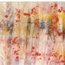 <p>Sam Gilliam (American, b. 1933). <em>Red April</em>, 1970. Acrylic on canvas, 110 &times; 160 in. (279.4 &times; 406.4 cm). The University of Iowa Museum of Art, Iowa City, Gift of The Longview Foundation and Museum purchase, 1971.11. &copy; Sam Gilliam</p>