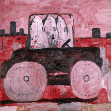 <p>Philip Guston (American, b. Canada, 1913–1980). <em>City Limits</em>, 1969. Oil on canvas, 77 × 103<sup>1</sup>⁄<sub>4</sub> in. (195.6 × 262.2 cm). The Museum of Modern Art, New York, Gift of Musa Guston, 1991. © The Estate of Philip Guston</p>