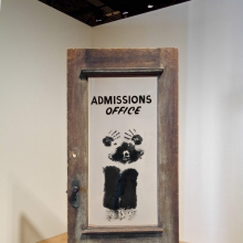 <p>David Hammons (American, b. 1943). <em>The Door (Admissions Office)</em>, 1969. Wood, acrylic sheet, and pigment construction, 79 × 48 × 15 in. (200.7 × 122 × 38.1 cm). California African American Museum, Los Angeles, Collection of Friends, the Foundation of the California African American Museum. © David Hammons</p>