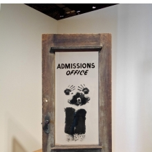 <p>David Hammons (American, b. 1943). <em>The Door (Admissions Office)</em>, 1969. Wood, acrylic sheet, and pigment construction, 79 &times; 48 &times; 15 in. (200.7 &times; 122 &times; 38.1 cm). California African American Museum, Los Angeles, Collection of Friends, the Foundation of the California African American Museum. &copy; David Hammons</p>