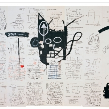 <p>Jean-Michel Basquiat (American, 1960&ndash;1988). <em>Untitled</em>, 1982&ndash;83. Oilstick, colored pencil, crayon, and gouache on paper mounted on canvas, 96 &times; 126 in. (243.8 &times; 320 cm). Collection of Fred Hoffman. Copyright &copy; Estate of Jean-Michel Basquiat, all rights reserved. Licensed by Artestar, New York</p>