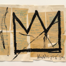 <p>Jean-Michel Basquiat (American, 1960&ndash;1988). <em>Untitled (Crown)</em>, 1982. Acrylic, ink, and paper collage on paper, 20 &times; 29 in. (50.8 &times; 73.66 cm). Private collection, courtesy of Lio Malca. Copyright &copy; Estate of Jean-Michel Basquiat, all rights reserved. Licensed by Artestar, New York. Photo: Mark-Woods.com</p>