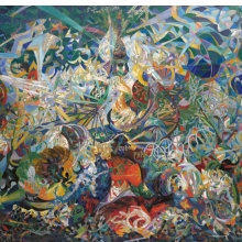 <p>Joseph Stella (American, born Italy, 1877&ndash;1946). <em>Battle of Lights, Coney Island, Mardi Gras</em>, 1913&ndash;14. Oil on canvas, 77 &times; 84<sup>3</sup>&frasl;<sub>4</sub> in. (195.6 &times; 215.3 cm). Yale University Art Gallery, New Haven, Connecticut; Gift of Collection Soci&eacute;t&eacute; Anonyme, 1941.689</p>