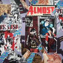<p>FAILE. <em>Eastern Suspenso</em>, 2015. Acrylic and silkscreen ink on canvas, 72 × 96 in. (182.9 × 243.8 cm). Courtesy of the artists. © FAILE. (Photo: Jonathan Dorado, Brooklyn Museum)</p>