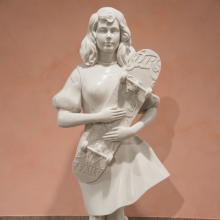 <p>FAILE. <em>Fantasy Island</em>, 2015. Marble, 84 &times; 30 &times; 22 ft. (25.6 &times; 9.1 &times; 6.7 m). Courtesy of the artists. &copy; FAILE. (Photo: Jonathan Dorado, Brooklyn Museum)</p>