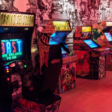 <p><em>The FAILE & BÄST Deluxx Fluxx Arcade</em>, Brooklyn Museum, 2015. Courtesy of the artists. © FAILE. (Photo: Jonathan Dorado, Brooklyn Museum)</p>