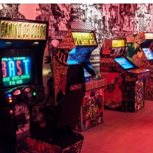 <p><em>The FAILE &amp; B&Auml;ST Deluxx Fluxx Arcade</em>, Brooklyn Museum, 2015. Courtesy of the artists. &copy; FAILE. (Photo: Jonathan Dorado, Brooklyn Museum)</p>