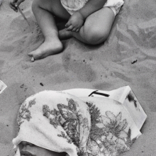 <p>Harry Lapow (American, 1909–1982). <em>Untitled (Buried Alive)</em>, circa 1960s or 1970s. Gelatin silver photograph, image: 12<sup>1</sup>⁄<sub>8</sub> x 9<sup>1</sup>⁄<sub>16</sub> in. (30.8 × 23 cm). Brooklyn Museum, Gift of the artist, 82.148.6. © Estate of Harry Lapow. (Photo: Sarah DeSantis, Brooklyn Museum)</p>