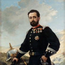 <p>Francisco Oller (Puerto Rican, 1833–1917). <em>Colonel Francisco Enrique Contreras</em>, 1880. Oil on canvas, 59<sup>5</sup>⁄<sub>8</sub> × 41<sup>1</sup>⁄<sub>2</sub> × 1<sup>3</sup>⁄<sub>8</sub> in. (151.4 × 105.4 × 3.5 cm). Museo de Arte de Ponce, Puerto Rico, The Luis A. Ferré Foundation, Inc.</p>
