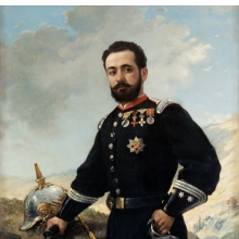 <p>Francisco Oller (Puerto Rican, 1833&ndash;1917). <em>Colonel Francisco Enrique Contreras</em>, 1880. Oil on canvas, 59<sup>5</sup>&frasl;<sub>8</sub> &times; 41<sup>1</sup>&frasl;<sub>2</sub> &times; 1<sup>3</sup>&frasl;<sub>8</sub> in. (151.4 &times; 105.4 &times; 3.5 cm). Museo de Arte de Ponce, Puerto Rico, The Luis A. Ferr&eacute; Foundation, Inc.</p>