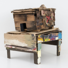 <p>Beverly Buchanan (American, 1940–2015). <em>Old Colored School</em>, 2010. Wood and paint, 20<sup>1</sup>⁄<sub>4</sub> x 14<sup>3</sup>⁄<sub>4</sub> x 18<sup>1</sup>⁄<sub>2</sub> in. (51.4 x 37.5 x 47 cm). © Estate of Beverly Buchanan, courtesy of Jane Bridges. (Photo: Adam Reich, courtesy of Andrew Edlin Gallery, New York)</p>
